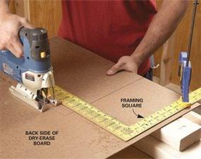 Photo 1: Cut the board