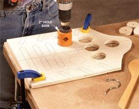 Photo 1: Drill holes