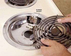 Photo 1: Check the burner