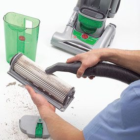 Use a shop vacuum to gently clean other vacuum filters.