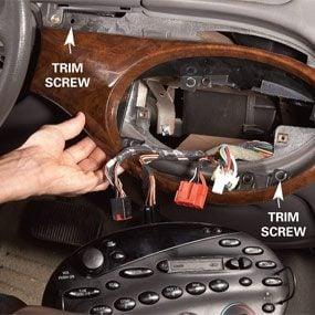 Photo 1: Remove the radio
