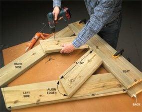 Photo 2: Assemble the legs