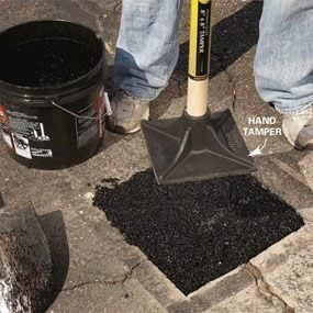 Photo 5: Pack in new asphalt