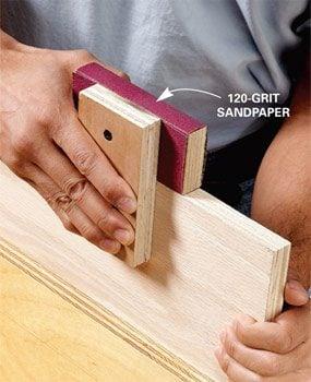 Sanding guide block