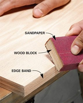 Banding With Iron-On Veneer Edging