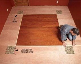 Diy Hardwood Floors Lay A Contrasting Border The Family