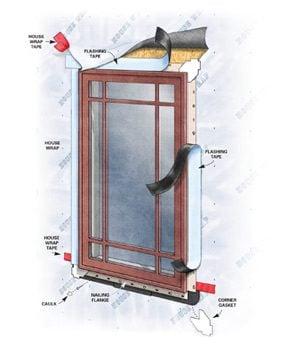 Figure B seal around the window