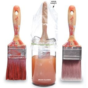 Paint Brush Care: How To Rescue a Petrified Brush