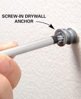 Photo 2: Install drywall anchors