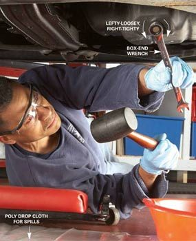 Diy car maintenance how to change your car oil yourself the photo 1 pull the plug solutioingenieria Image collections