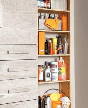Spacious, adjustable shelves that cut garage clutter