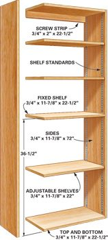 Open-shelf cabinet