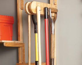 Hang several tools from one bracket.