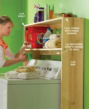 laundry shelf ideas