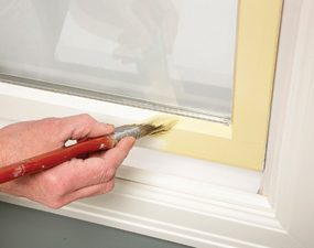 Cut in along windows. Avoid time-consuming taping.