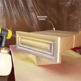 spray painting kitchen cabinets How to Spray Paint Kitchen Cabinets — The Family Handyman spray painting kitchen cabinets