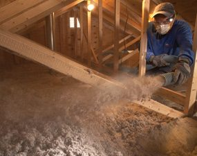 Blown in insulation & Saving Energy: Blown in Insulation in the Attic | The Family Handyman