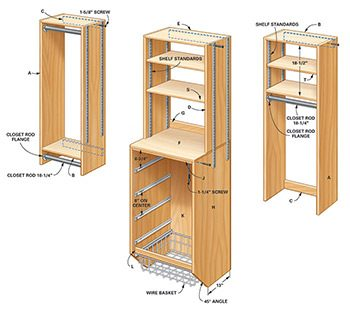 Storage how to triple your closet storage space family for How to build a walk in closet step by step