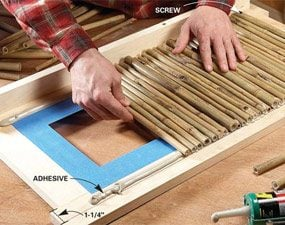 Photo 3: Glue on the bamboo