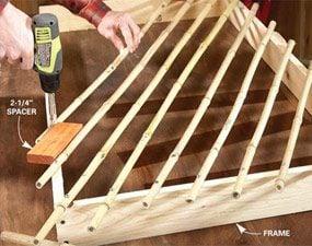 Photo 5: Build the lattice on a frame