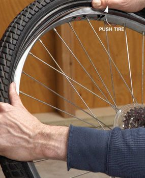 how to change a bike tube
