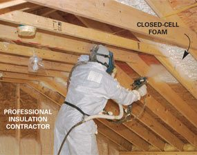 Foaming A Vaulted Ceiling