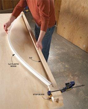 Bend plastic wood