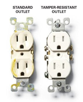 Standard and tamper-resistant outlets