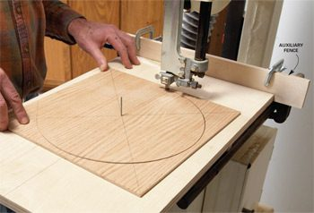 Band saw cutting circle