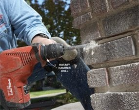 Photo 3: Hammer out the mortar