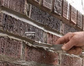 Photo 8: Strike the mortar joints
