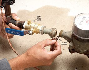 Photo 2: Install the new valve