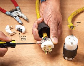 how to repair a cut extension cord family handyman rh familyhandyman com rewiring an extension cord wiring an extension cord