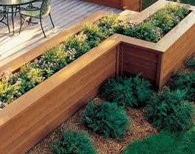 Deck edge planters
