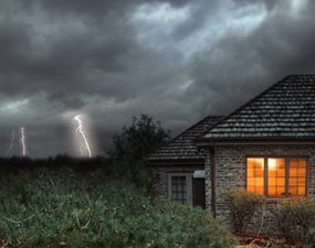 If you see lightning coming, unplug anything with a circuit board in it.
