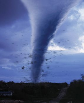 In the home emergency preparedness guide, stress the importance of taking cover in a tornado.