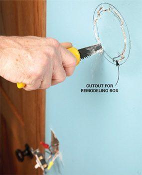 Photo 2: Cut the hole