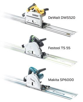 The big brands of track saws