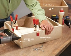 Photo 4: Build the drawers