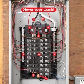 breaker box safety how to connect a new circuit family handyman rh familyhandyman com electric panel wiring diagram electrical panel wiring diagram