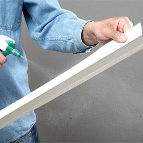 Damp paper bonds better