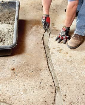 Photo 3: Fill groove with concrete