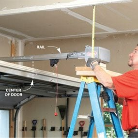 How To Install A Replacement Garage Door Opener The