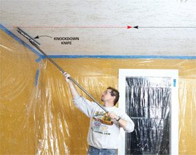 How To Apply Knock Down Texture The Family Handyman