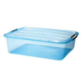 Small clear plastic bin