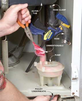 How To Drain A Washing Machine That Won T Drain The
