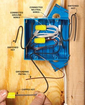 Fold the wires to save space