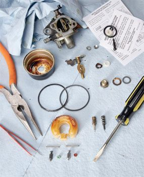 Photo 4: Dissect the carb on your workbench