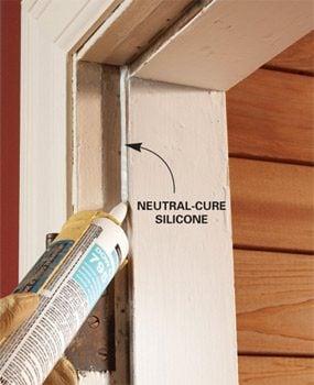 Photo 2: Use silicone caulk for adhesive