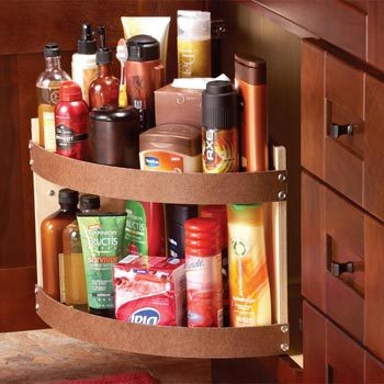 Swing-out shelf under the sink